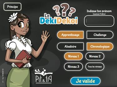 Application de lecture et de compréhension Le DekiDekoi (aperçu d'écran)