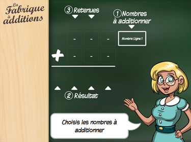 Application La Fabrique à Additions (aperçu d'écran)