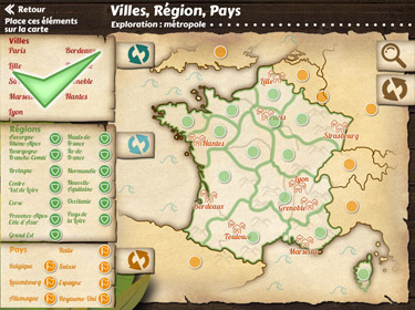 Application de géographie La France (écran d'aperçu)