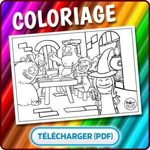 Coloriage Pit&Pit La petite sorciere et ses amis