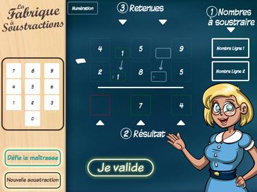 Application La Fabrique à Soustractions (aperçu d'écran)