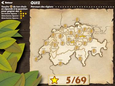 Application de géographie La Suisse (écran d'aperçu)